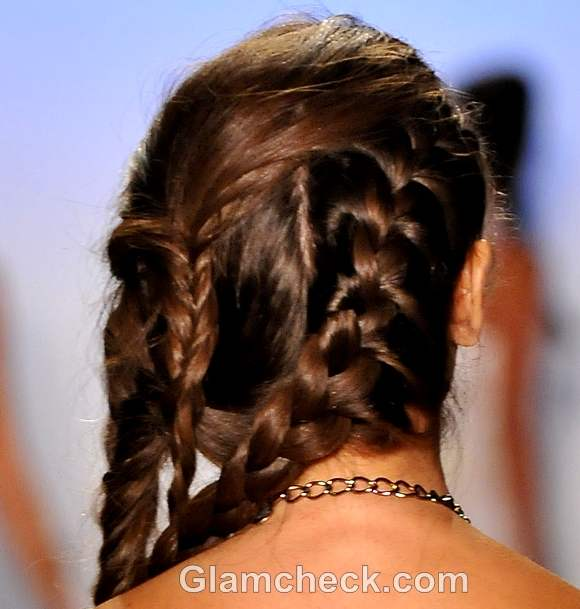 hairstyle how to multiple intricate side braids