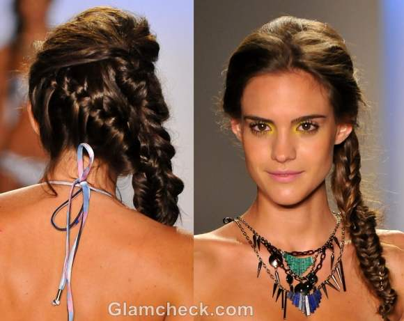multiple intricate side braids hairstyle how to