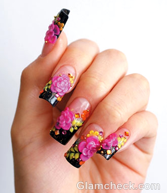 pink nail art-1