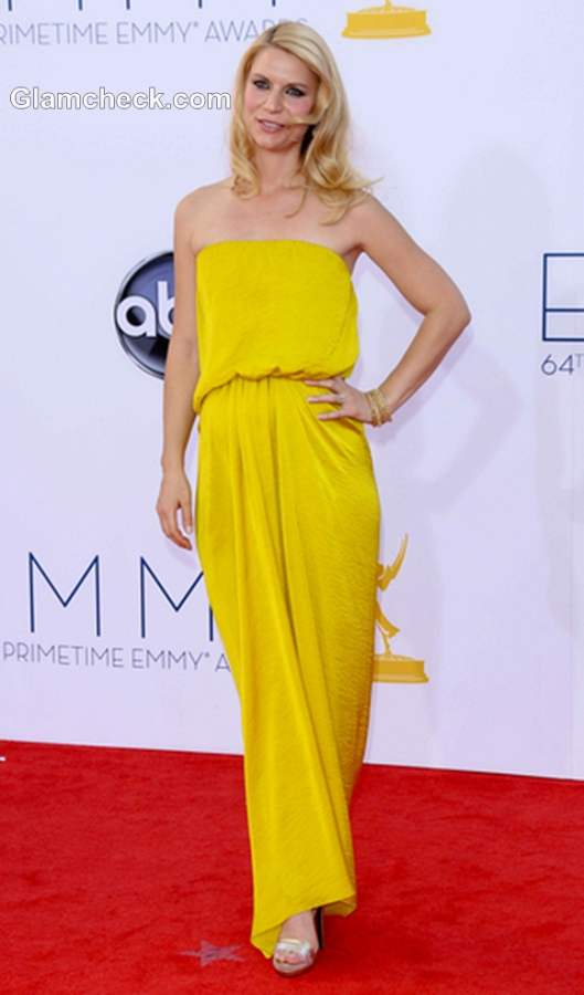 yellow gown 2012 Claire Danes