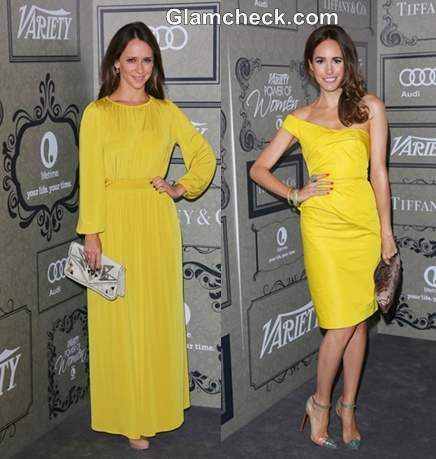 Celebs in Yellow at Power of Women Luncheon Event