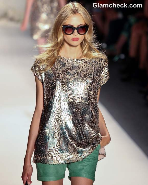 How to Wear Sequin Tops RACHEL ZOE Spring-Summer 2013