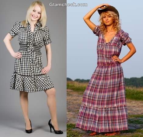 How wear checks plaids dress women