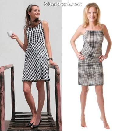 How wear checks plaids women dress