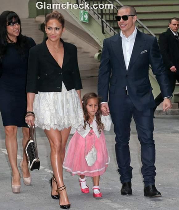 Jennifer Lopez daughter Emme Maribel Muniz paris fashion week 2013