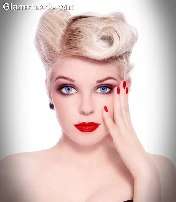Marliyn Monroe inspired Retro hairstyles makeup look