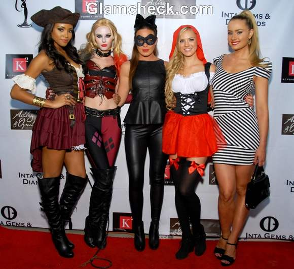 Meagan Tandy Alyssa Campanella Raquel Beezley Kristen Dalton Claire Scheider Annual Insane Asylum Halloween Party 2012