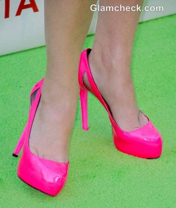 celebrity footwear Lindsey Shaw