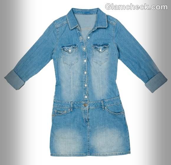 denim shirt dress for women