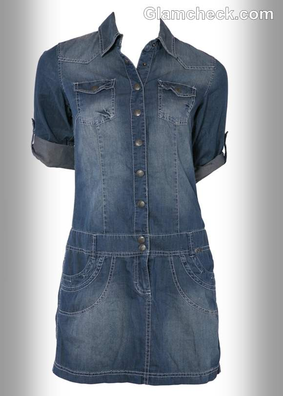 denim shirt dress women