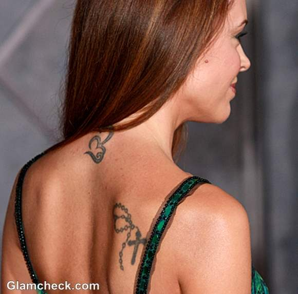 Celebrity Tattoo Alyssa Milano Neck Shoulder Tattoos Their Meaning