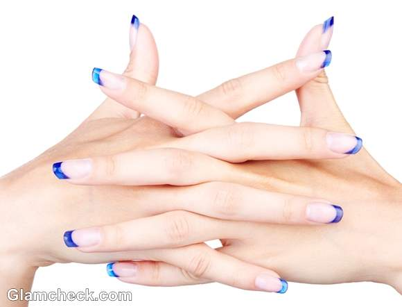 DIY nail art how to do french manicure
