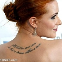 Evan Rachel Wood back tattoo meaning