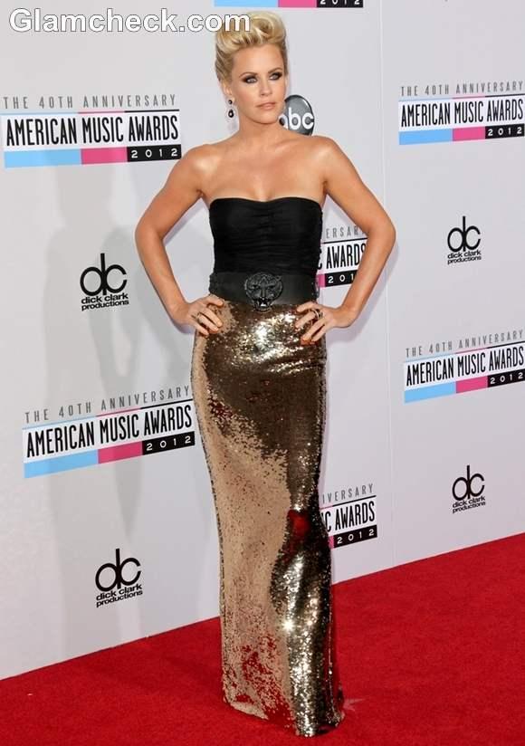 Jenny McCarthy outfit at AMAs 2012
