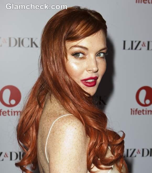 Lindsay Lohan 2012 Liz and Dick LA Premiere