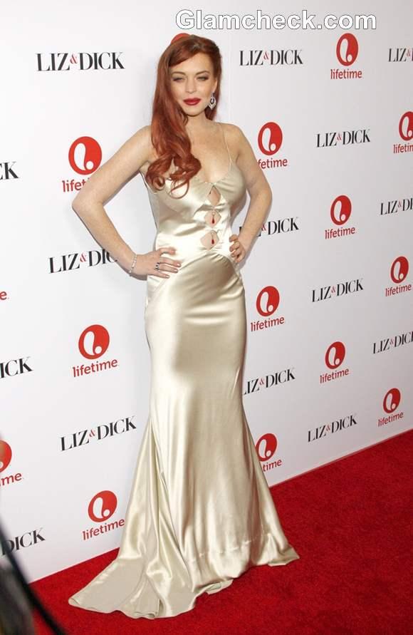 Lindsay Lohan Liz and Dick LA Premiere