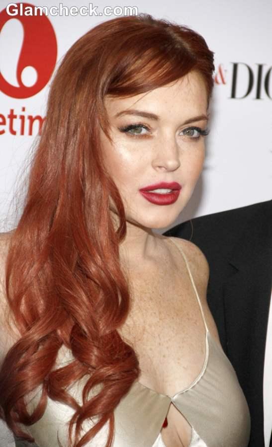 Lindsay Lohan glamorous 2012 Liz and Dick LA Premiere