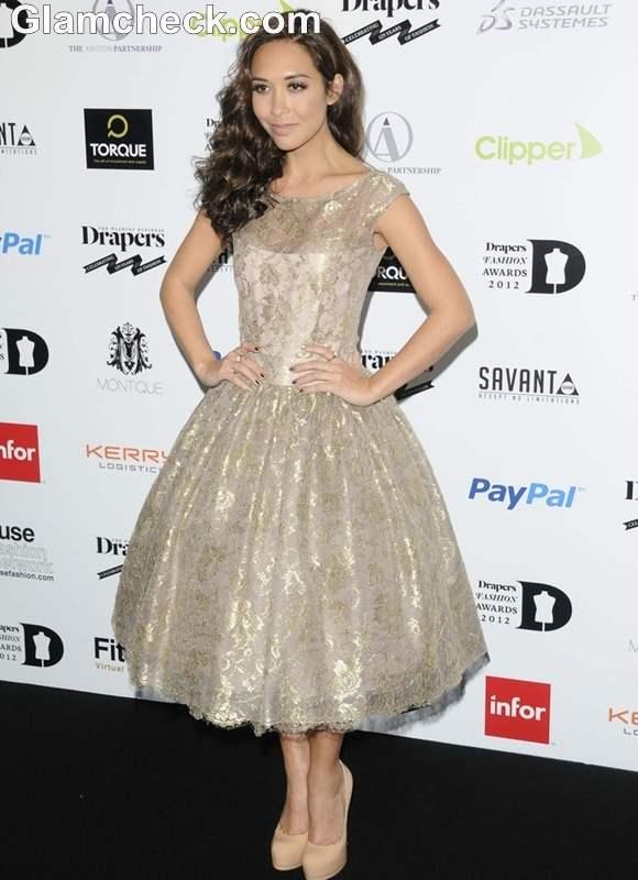 Myleene Klass Drapers Fashion Awards 2012