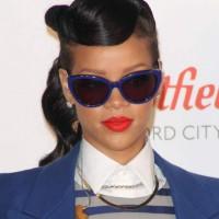 Rihanna hairstyle 2012 Switch on Westfield X'mas Lights