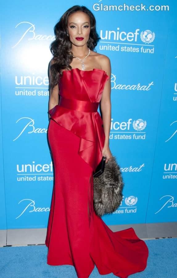 Selita Ebanks in Scarlet at 2012 UNICEF Snowflake Ball 2012