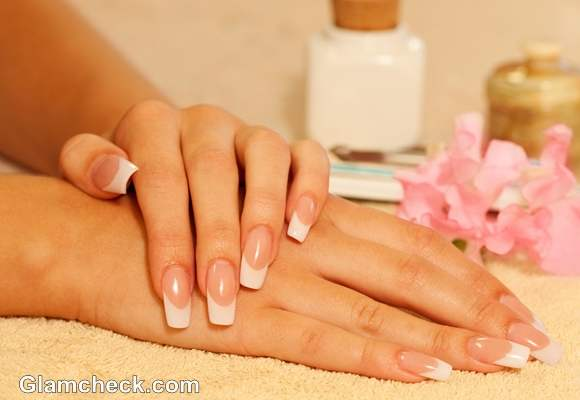 diy nail art french manicure