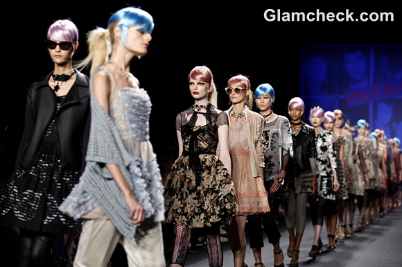 Anna Sui Spring Summer 2013 Technicolor Hairstyles