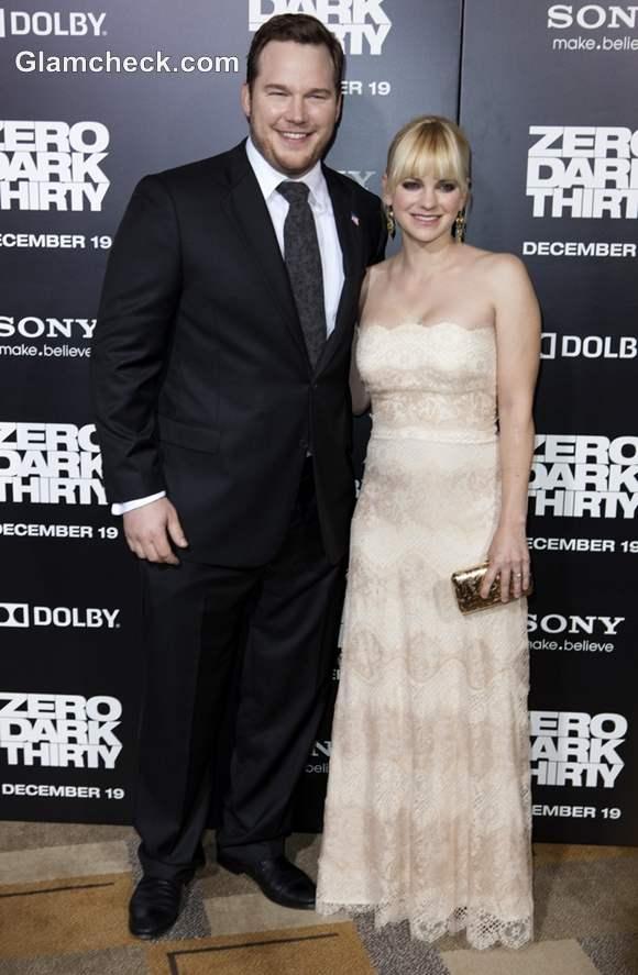 Chris Pratt and Anna Faris at Zero Dark Thirty LA Premiere