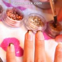 DIY Nail Art Shimmer and Gloss
