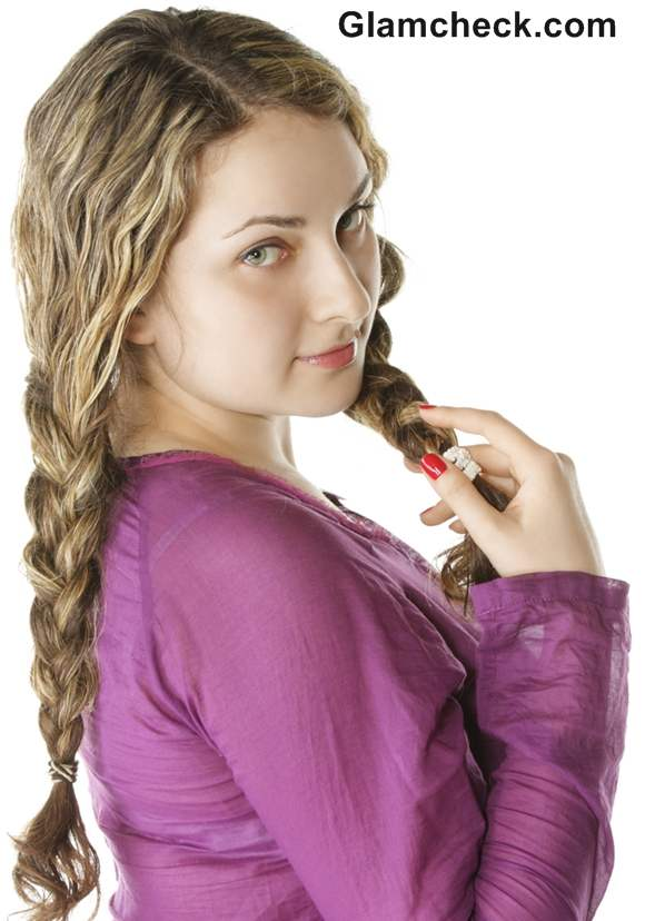 How to Style Wet Hair side braid