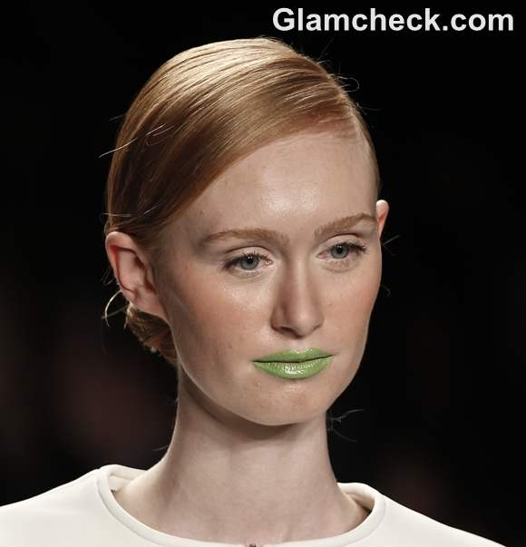 Makeup Trends Spring-Summer 2013 Bright Neon Green Lip colour