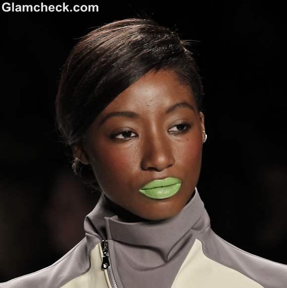 Makeup Trends Spring-Summer 2013 Neon Green Lip colour