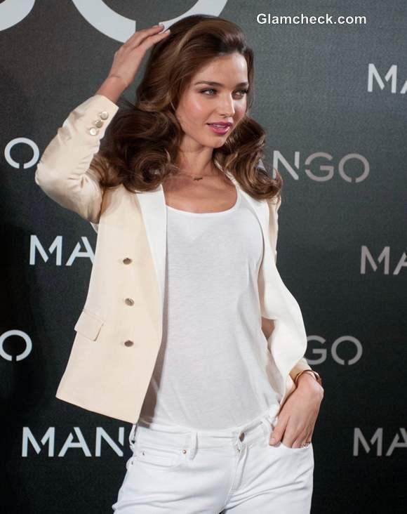 Miranda Kerr new face of Mango at Mango Debut Photocall