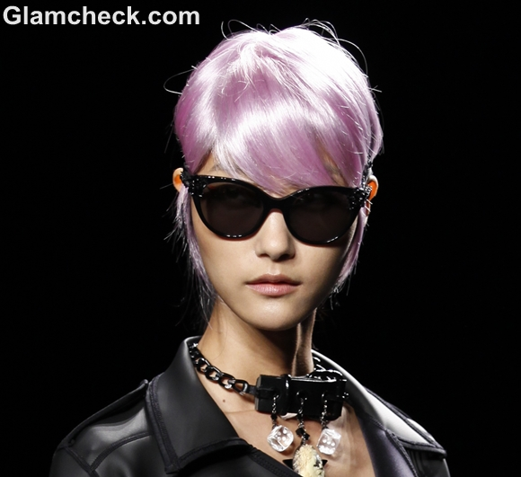 Neon hair color trend spring 2013 Anna Sui