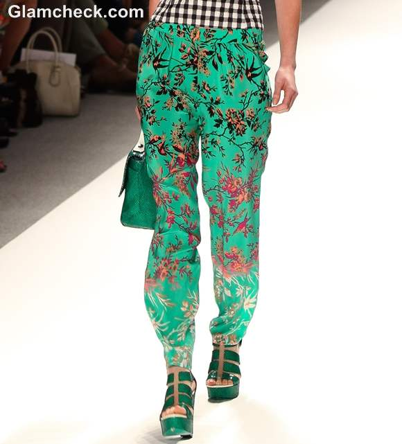 Porcelain Print Trousers by Nanette Lepore S-S 2013