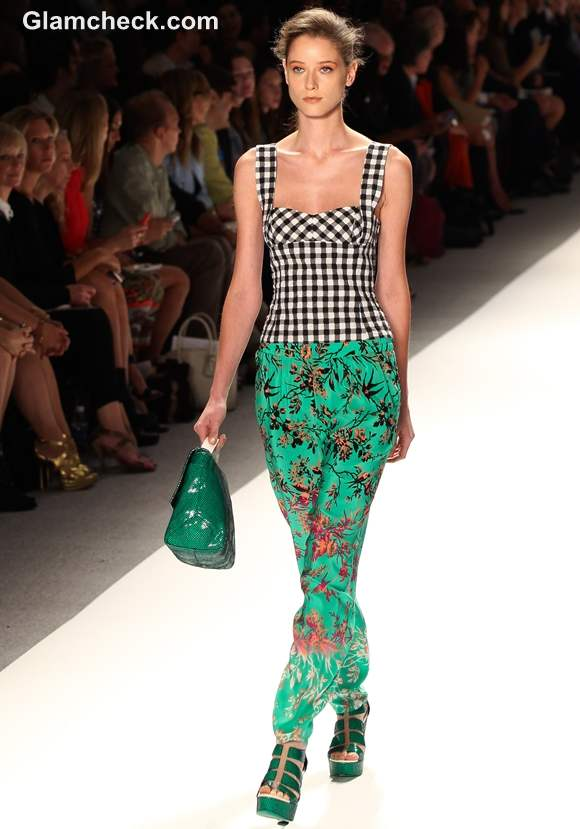 Style Pick Porcelain Print Trousers by Nanette Lepore S-S 2013
