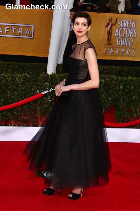 Anne Hathaway at 2013 SAG Awards