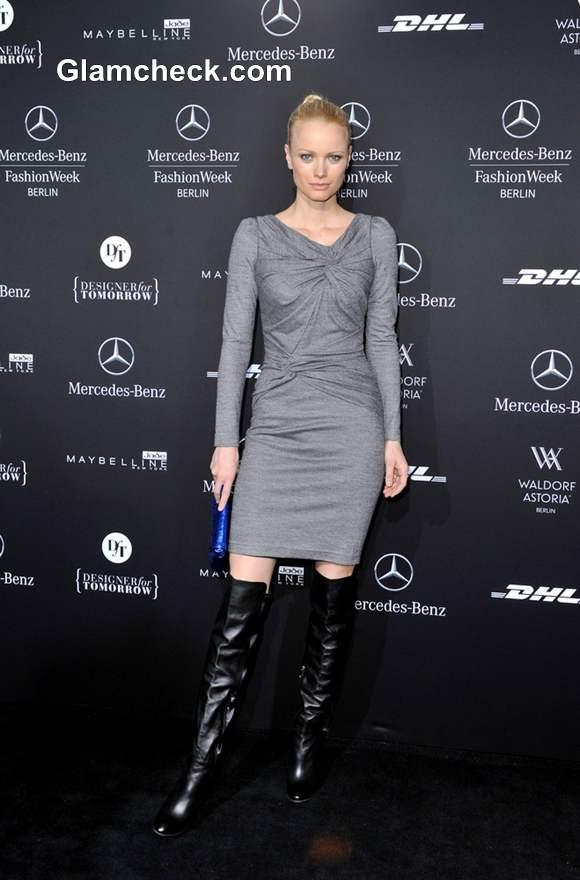 Franziska Knuppe at Laurel Show Mercedes Benz Fashion Week AW 2013-14