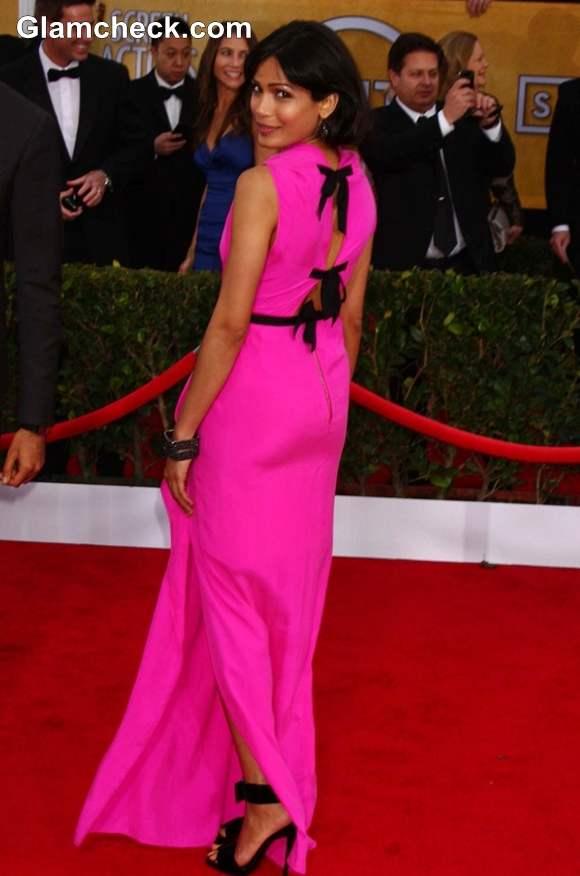 Freida Pinto Pink Gown 2013 SAG Awards