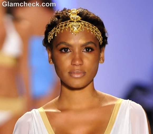 Head Ornaments the Lisa Blue Swimwear 2013 Collection