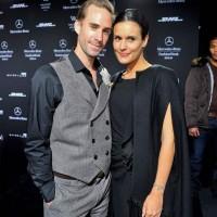 Joseph Fiennes Maria Dolores Dieguez at Laurel Show Mercedes Benz Fashion Week AW 2013-14