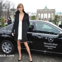 Karlie Kloss at Mercedes Benz Fashion Fall Winter 2013
