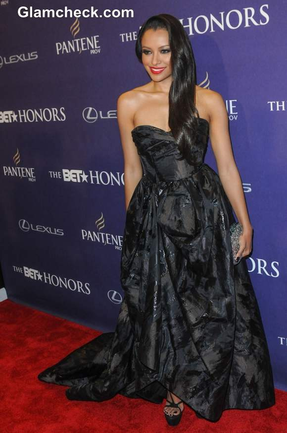 Kat Graham Stunning in Black Gown at BET Honors 2013