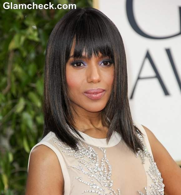 Kerry Washington Hairstyles at 70th Anuual Golden Globe Awards