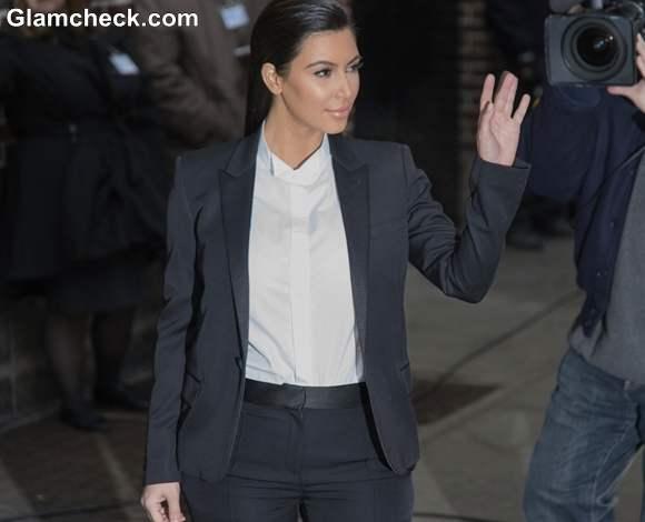 Kim Kardashian 2013 Androgynous 2013 Late Show with David Letterman