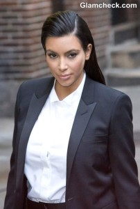 Kim Kardashian Androgynous look 2013 Late Show with David Letterman