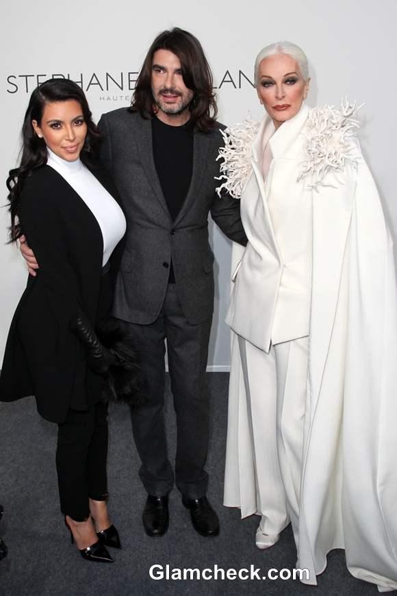 Kim Kardashian and Carmen DellOrefice at Stephane Rolland Show at Paris Fashion Week S-S 2013