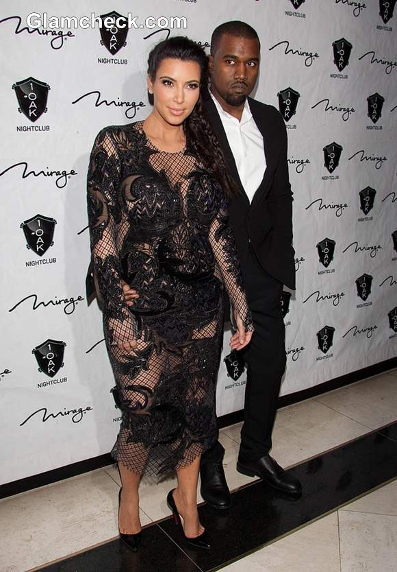 Kim Kardashian kayne west At Vegas 31st dec 2012