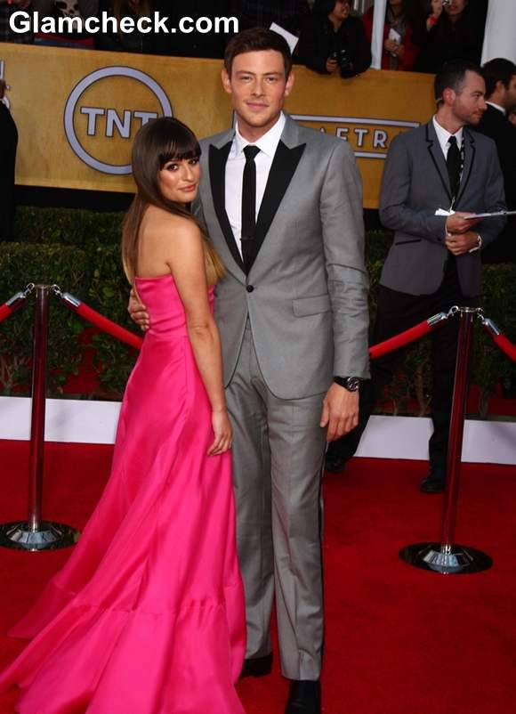 Lea Michele Cory Monteith 2013 Screen Actors Guild Awards