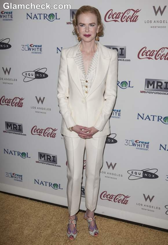 Nicole Kidman Classy in Tailored Suit at Gold Meets Golden Event