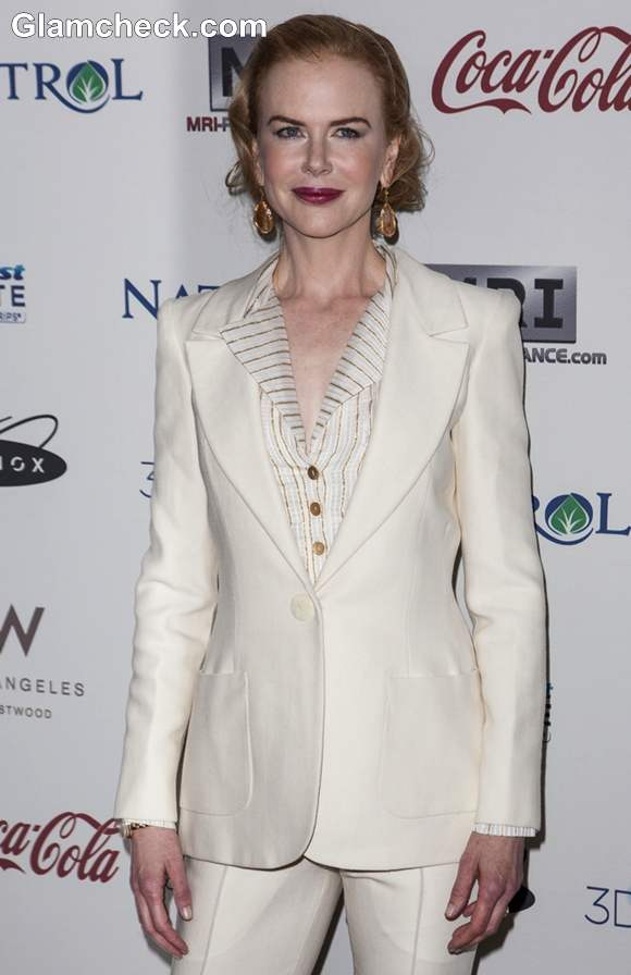 Nicole Kidman in Tailored Suit at Gold Meets Golden Event 2013
